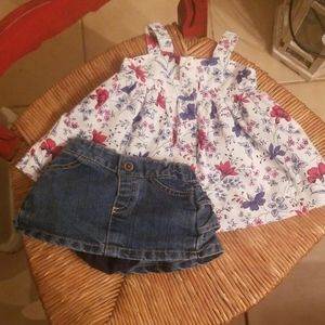 Gap dress and circo denim skirt